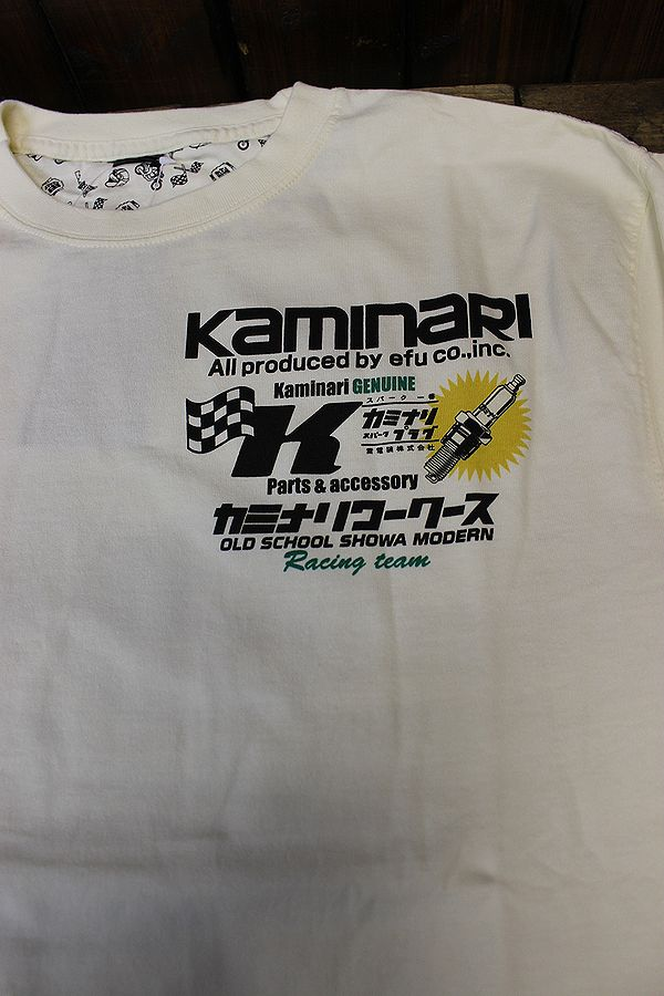 エフ商会 カミナリワークス 雷 KMLT-154 サバンナ RX3 昭和  長T 長袖Tee ロンT オフホワイト