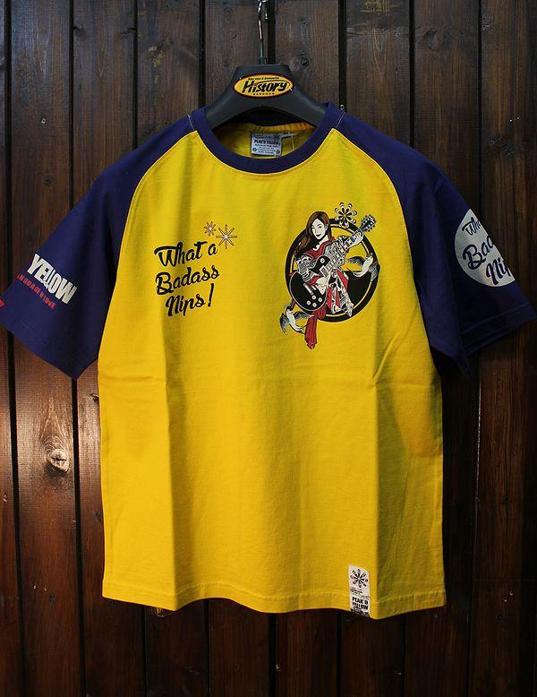 エフ商会 PEAK'D YELLOW(ピークドイエロー) PYT-209 コットンTシャツ GUITER ギター