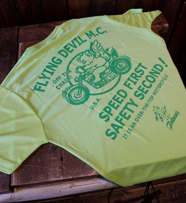 エフ商会 TEDCOMPANY TEDMAN(テッドマン) TDRYT-200 ドライTシャツ Lグリーン