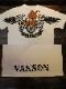 VANSON×Tom and Jerry トムとジェリーコラボ  TJV-2121 天竺半袖Tee ジェリーTシャツ オフホワイト