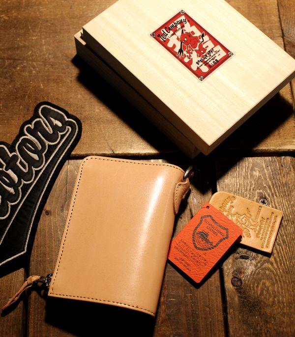 エフ商会 TEDMAN(テッドマン) TDW-260 ラウンドジップショートウォレット ナチュラル 財布