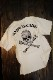 VANSON バンソン NVST-2118 天竺半袖Tee スカル刺繍 Tシャツ オフホワイト