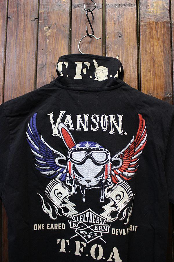 VANSON×CROWS×WORST 武装戦線 コラボ CRV-708 天竺本袖ポロシャツ