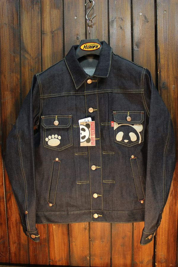 PANDIESTA JAPAN パンディエスタ 539653 熊猫謹製 ストレッチデニムジャケット