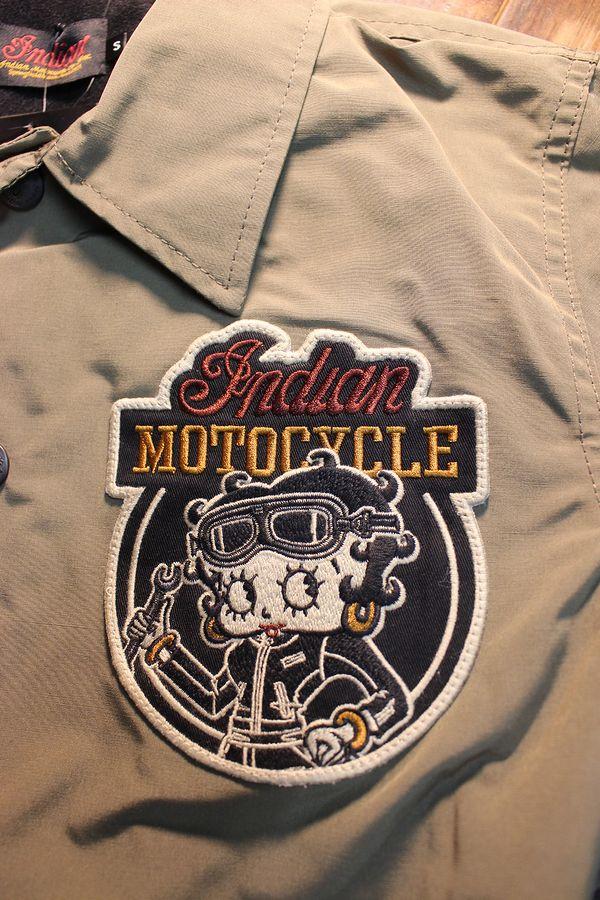 INDIAN MOTOCYCLE×BETTY BOOP インディアン×ベティ コラボ BBI-950 コーチジャケット カーキ