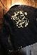 VANSON バンソン NVJK-2006 刺し子×ボアジャケット チェーン刺繍 ブラック