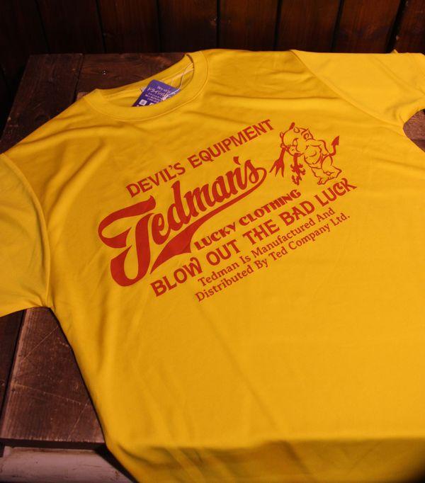 エフ商会 TEDCOMPANY TEDMAN(テッドマン) TDRYT-300 ドライTシャツ イエローM
