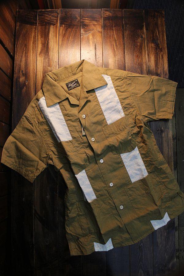 KOJIMA GENES 児島ジーンズ RNB-2011 キューバシャツ オリーブ