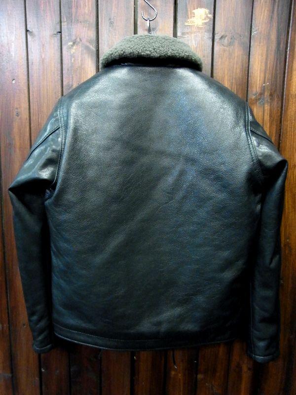 カドヤ(KADOYA) HEAD FACTORY HF/N-1 レザージャケット 純国産 革ジャン ミリタリー デッキジャケット ネイビー