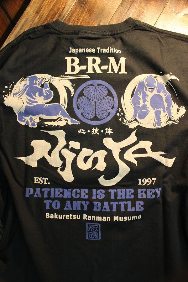 エフ商会 爆烈爛漫娘 B-R-M RMLT-299 忍者 長袖Tee ロンT ブラック