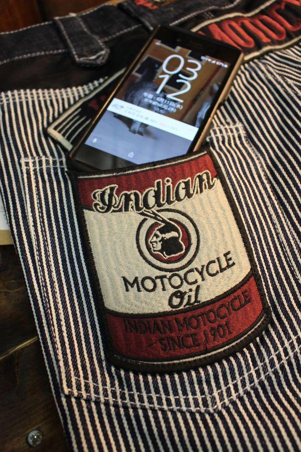 INDIAN MOTOCYCLE×BETTY BOOP インディアンモトサイクル×ベティー・ブープ BBI-953 刺繍デニムパンツ HICKORY(ONE WASH)