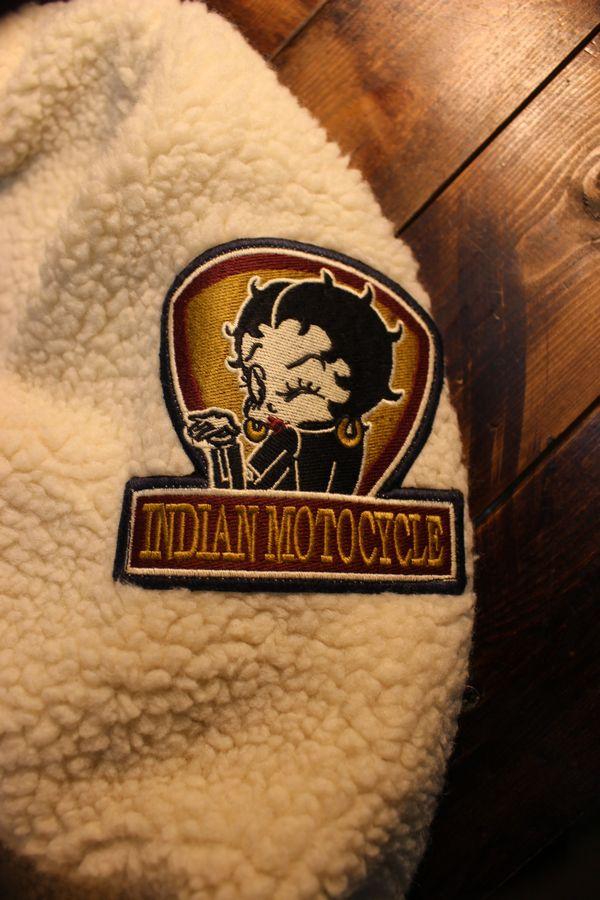INDIAN MOTOCYCLE×BETTY BOOP インディアン×ベティ コラボ BBI-952 ボアジャケット アイボリー