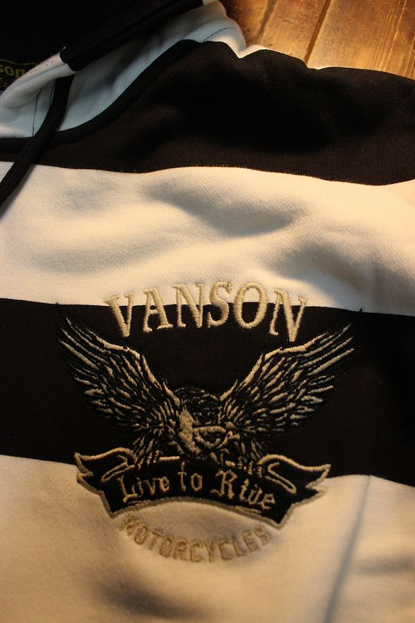 VANSON バンソン NVSZ-2011 裏毛フルzipパーカー ボーダー