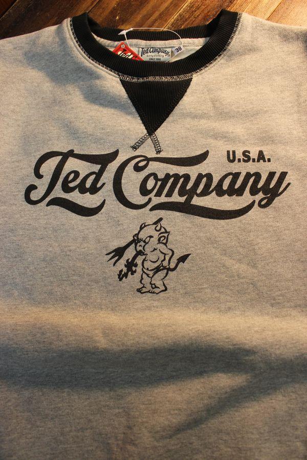 エフ商会 TEDMAN(テッドマン) TDSW-1170 スウェットトレーナー アッシュ×ブラック
