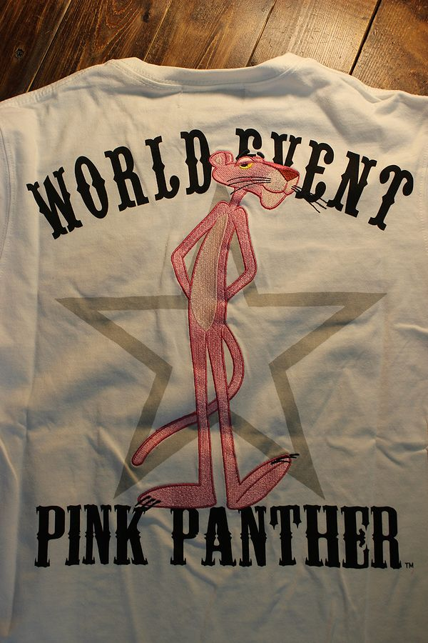 pink panther ピンクパンサー 493021 ロンTee 長袖Tシャツ ホワイト