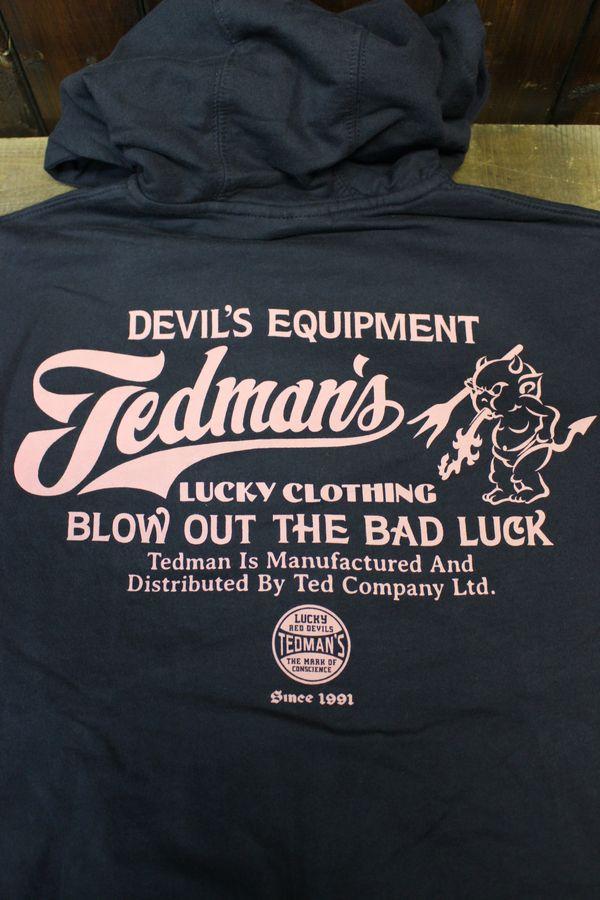 エフ商会 TEDMAN(テッドマン) BLOW OUT THE BADLUCK TDSP-148 スウェット パーカー