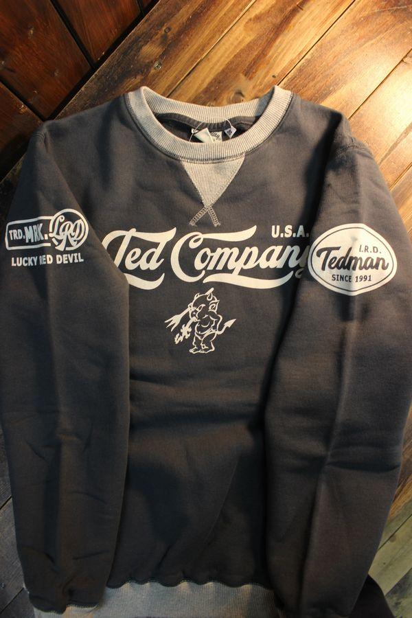 エフ商会 TEDMAN(テッドマン) TDSW-1170 スウェットトレーナー ネイビー×アッシュ
