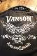 VANSON バンソン NVST-2104 天竺半袖ポロ ウイングスター ブラック