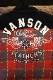 VANSON(バンソン) NVSL-2107 CPOシャツ  ウイング レッド チェック