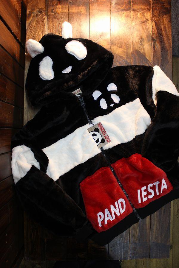 PANDIESTA JAPAN パンディエスタジャパン 539210 モコモコフェイクファーパーカー ブラック