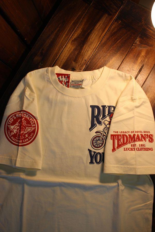 エフ商会 TEDCOMPANY TEDMAN(テッドマン) TDSS-508 コットンTシャツバイク ヴィンテージモトクロス