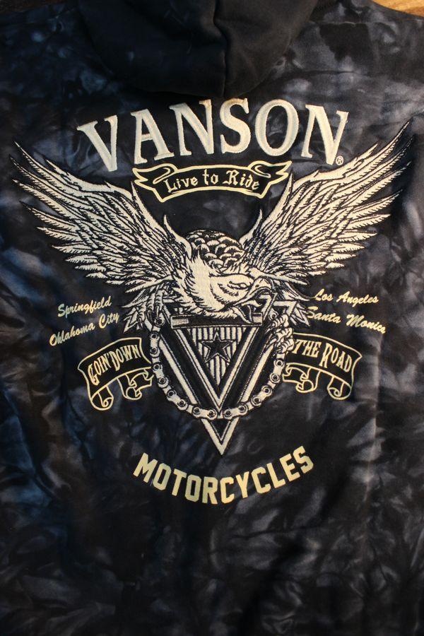 VANSON バンソン NVSZ-2011 裏毛フルzipパーカー タイダイ