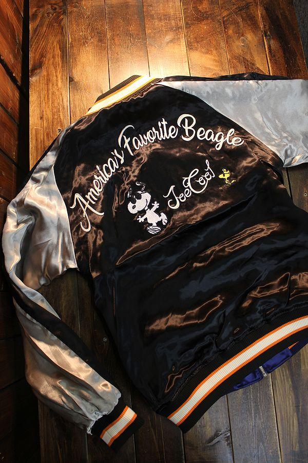 FLAG STAFF フラッグスタッフ×Snoopy スヌーピー 403953 リバーシブルスカジャン 刺繍