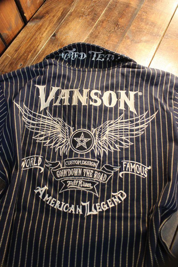 VANSON バンソン NVST-2104 天竺半袖ポロ ウイングスター ウォバッシュ