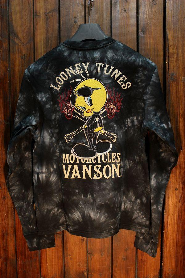 VANSON×LOONEY TUNES バンソン×ルーニー・テューンズコラボLTV-924 天竺ロンTee タイダイ