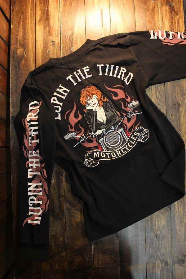 ルパン三世 LU3B-2003 天竺ロンTee 刺繍 長袖Tシャツ 峰不二子 不二子ちゃん ブラック