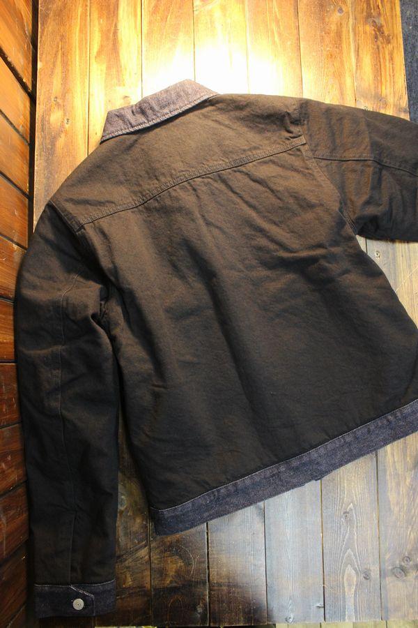 KOJIMA GENES 児島ジーンズ RNB-5025 ブラック コンボスポーツジャケット 中綿入り