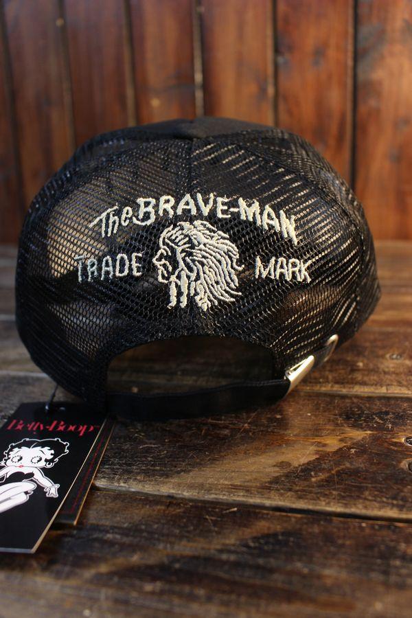 The BRAVE-MAN×BETTY BOOP ベティブープ BBB-2125 ツイルメッシュキャップ ブラック