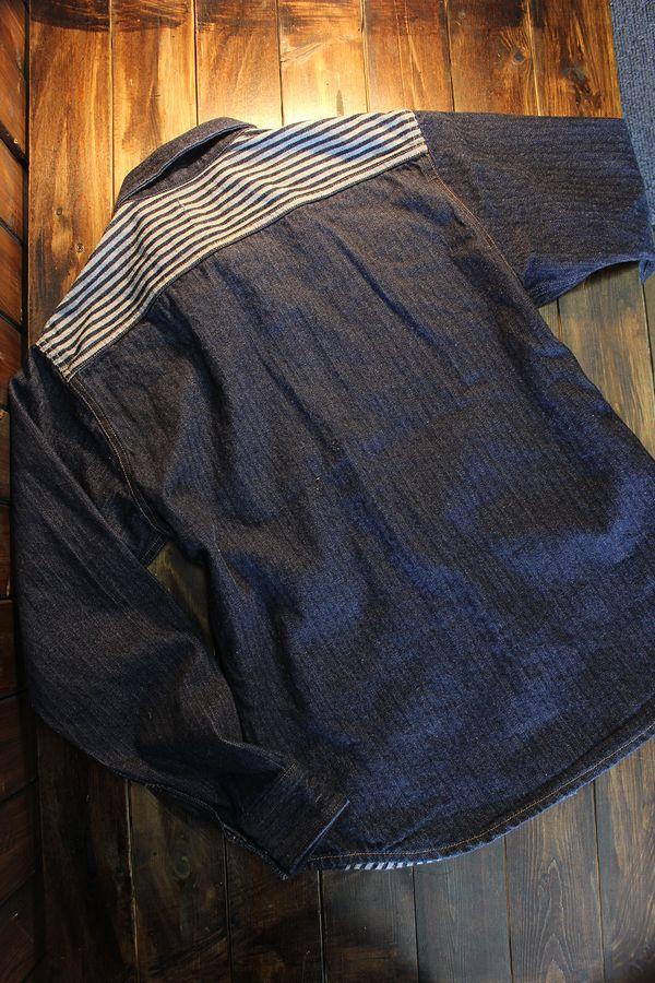 KOJIMA GENES 児島ジーンズ RNB-2009 4POCKET SHIRT DICE WEAVE DENIM