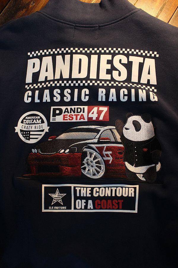 PANDIESTA JAPAN パンディエスタジャパン 598051 フロントZipスウェット ネイビー