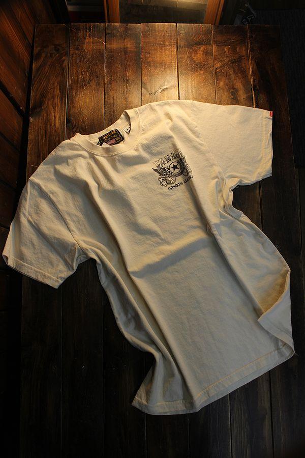VANSON バンソン NVST-2124 半袖Tee カナダ製 天竺半袖Tee Tシャツ ウイング ナチュラル