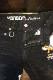 VANSON×Tom and Jerry トムとジェリー TJV-2137刺繍デニムパンツ ジーンズ ブラック