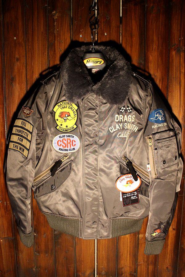 オリオンエース CLAY SMITH (クレイスミス) CSY-8320 DRAG FORCE 防寒MA-1 フライトジャケット ガンメタ LL