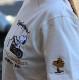 FLAG STAFF フラッグスタッフ×Snoopy スヌーピー 412015 天竺半袖Tee 刺繍 半袖Tシャツ バイク ホワイト