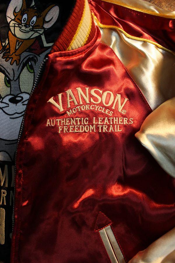 VANSON×Tom and Jerry トムとジェリーコラボ TJV-933 リバーシブル スカジャン