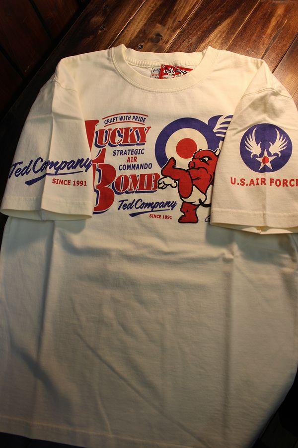 エフ商会 TEDCOMPANY TEDMAN(テッドマン) TDSS-505 コットンT 爆弾テッド オフホワイト