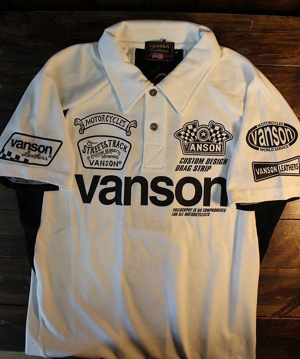 VANSON バンソン NVPS-2009 Wフェイスポロ オフホワイト