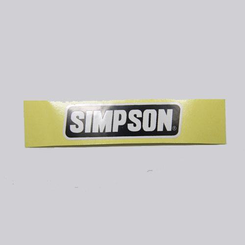 SIMPSON(シンプソンヘルメット)ステッカー S (シールドステッカー)(M30用)ブラック