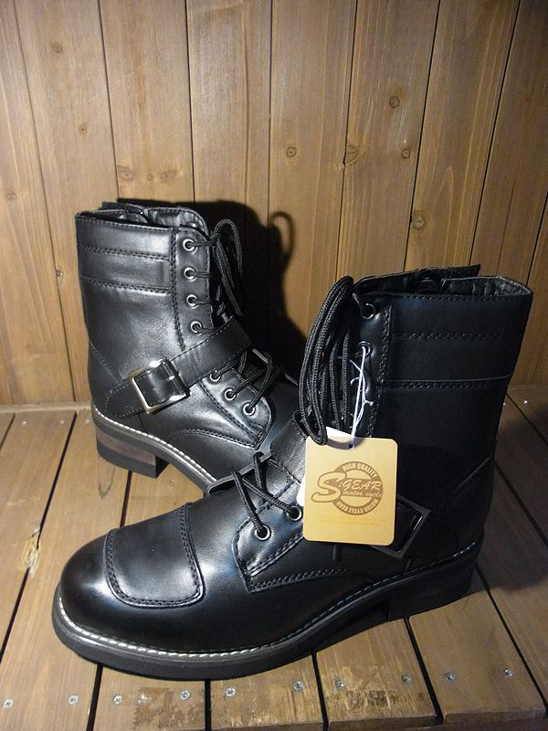 SKY S:GEAR SPB-002  PU LACEUP BOOTS PUレースアップブーツ 合皮
