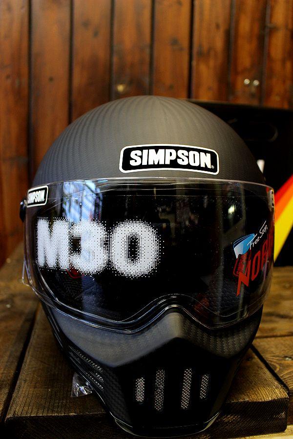 ☆シールドサービス☆シンプソン(SIMPSON)ヘルメット M30 復刻版 マットカーボン