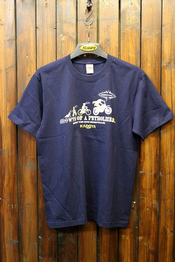 KADOYA(カドヤ) K'S PRODUCT GROWTH PETROLHEAD-T Tシャツ ネイビー