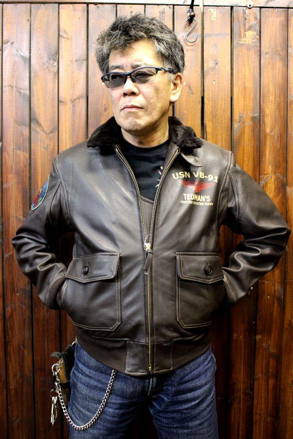 TEDCOMPANY エフ商会 TEDMANテッドマン G1-JACKT ゴートレザージャケット TG1-400 リアルムートン襟仕様