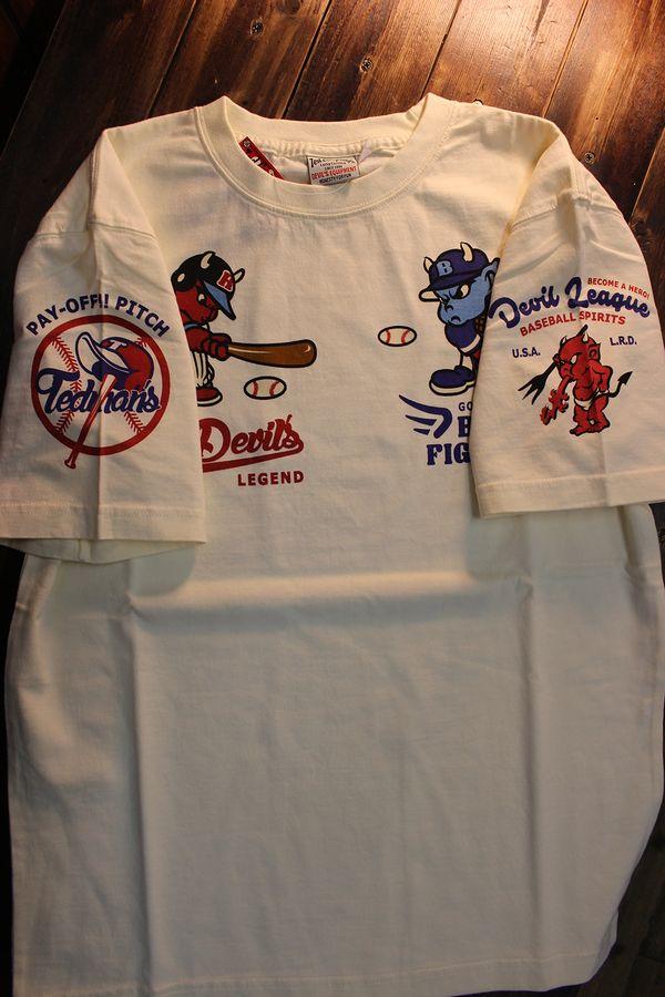 エフ商会 TEDCOMPANY TEDMAN(テッドマン) TDSS-510 コットンT ベイスボール 野球 オフホワイト