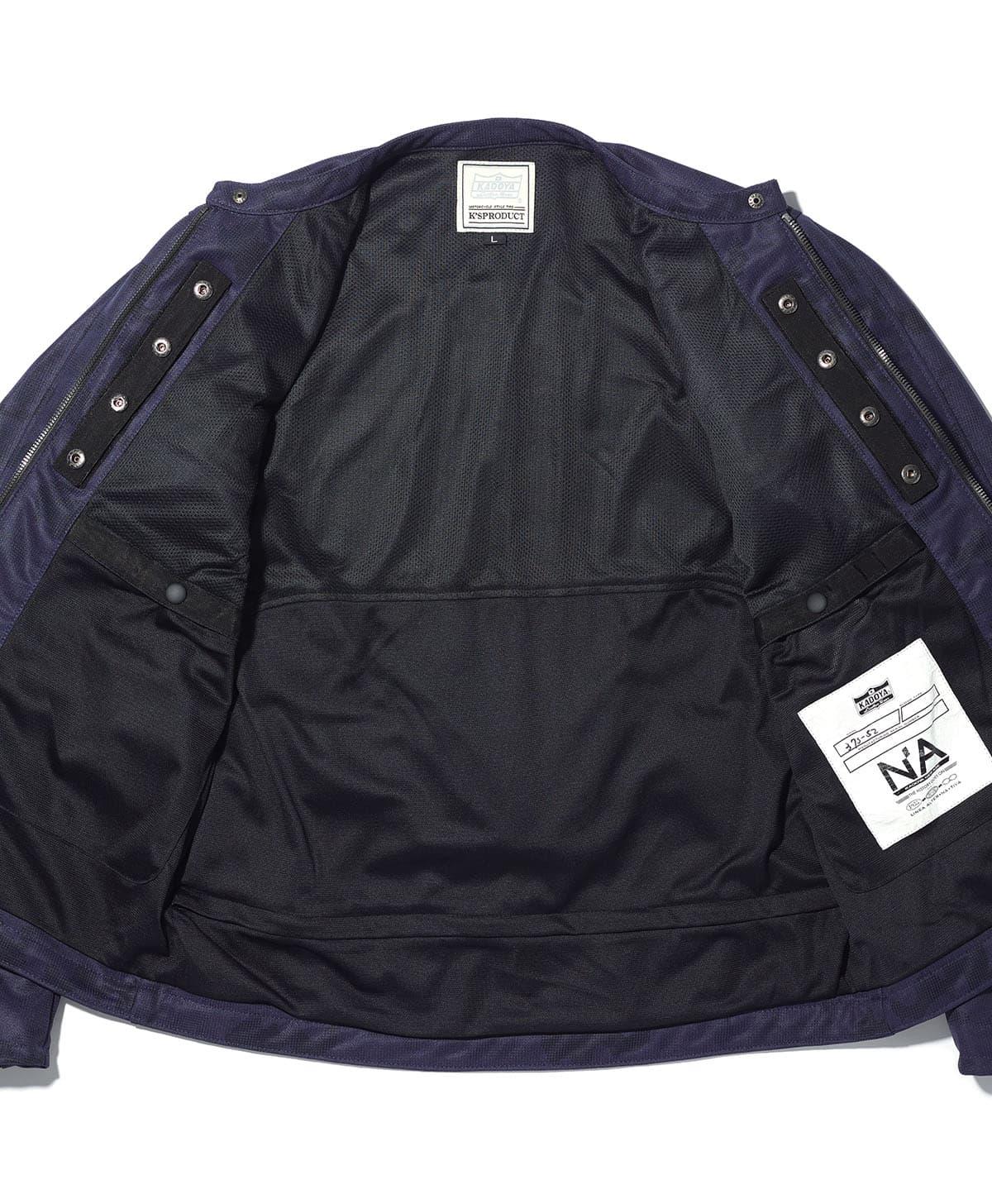 予約販売 カドヤ(KADOYA) K'S LEATHER & K'S PRODUCT ACRO / CAMO アクロ/カモ メッシュジャケット ネイビー×カモフラ