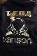 VANSON×CROWS×WORST 武装戦線 CRV-2032 裏毛フロントZipパーカー エンボスプリント BK/GO