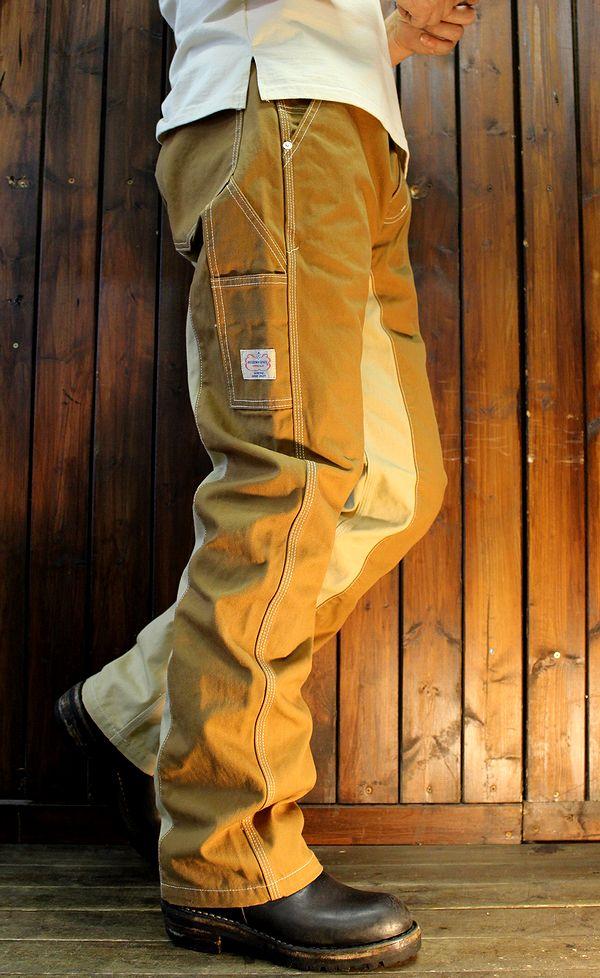 KOJIMA GENES 児島ジーンズ RNB-1081 モンキーコンボペインターパンツ ブラウン